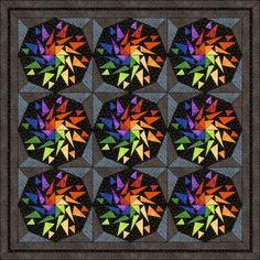 Patchwork patroon: Flying Geese Kaleidoscoop