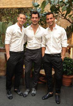 white shirts & italian shoes