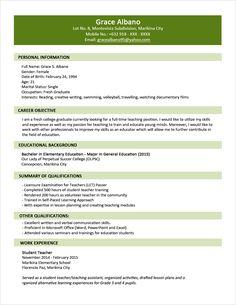 Sample Of Resume Format For Job Application #application #format ...