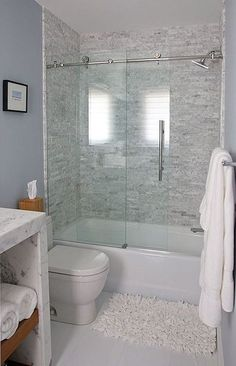 contemporary full bathroom with stone slab showerbath ann sacks white thassos square field concrete tile