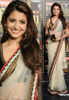 #Anushka Sharma in #Bollywood #Designer #Saree