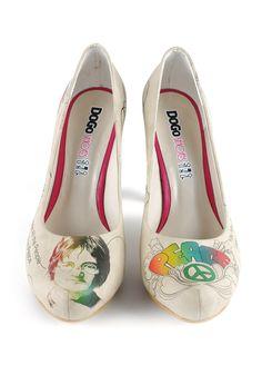 Dogo Shoes - John Lennon Topuklu Ayakkabı Markafoni'de 189,90 TL yerine 69,99 TL! Satın almak için: http://www.markafoni.com/product/4972282/
