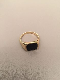 size 10.5. Onyx Ring Signet Ring Black Onyx Ring women ring by Limajewelry