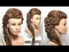 Bridal Hairstyle For Long Hair Tutorial Step By Step - YouTube