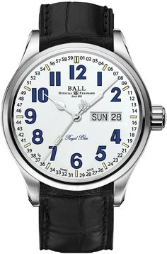Buy this Ball Trainmaster Royal Blue White Dial Limited Edition here at Exquisite Timepieces, we are Authorized Dealers Popular Watches, Watches For Men, Men's Watches, O Train, Watch Companies, Watch Faces, Patek Philippe, Seiko, Luxury Watches