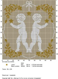 les_anges_aux__toiles Stitch And Angel, Cross Stitch Angels, Cross Stitch Flowers, Cross Stitch Charts, Cross Stitch Designs, Cross Stitch Patterns, Diy Embroidery, Cross Stitch Embroidery, Crochet Decoration