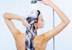 woman washing hair1 Oily Hair: Natural Best Home Remedies