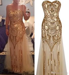 2017 New Stunning Gold Sequins Evening Dresses Sweetheart Lace Up Back Floor Length Tulle Formal Prom Party Gowns Vestido De Festa Cheap Long Evening Dresses Pink Dresses From Modeldress, $43.53| Dhgate.Com