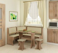 Jedálenský set - WIP - dub sonoma svetlá + safari (s taburetkami) Kitchen Nook Table, Nook Dining Set, Dining Bench, Dining Chairs, Dining Room, Storage Bench Seating, Rooms Home Decor, Space Saving, Storage Spaces
