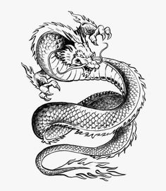 Chinese Dragon. Free tattoo stencil