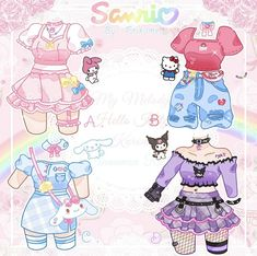 Cartoon Outfits, Anime Outfits, Drawing Anime Clothes, Clothing Sketches, Cute Art Styles, Fashion Design Drawings, Drawing Base, Art Reference Poses, Kawaii Girl