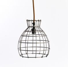 Rustic Steel Lamp Pendant £69.95 at Old With New