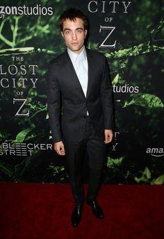 Brad Pitt Joins Robert Pattinson and Charlie Hunnam at Their Movie Premiere