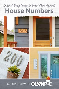 Make a statement with your number sign. All you need is an afternoon and some stain to knock out this budget-friendly curb appeal project. Whether you're style is farmhouse, coastal or anything in between, this stain project will add a personalized touch to your home.