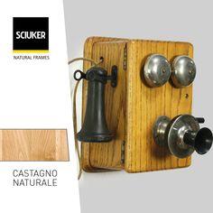 Alla scoperta della finitura #CastagnoNaturale delle finestre #Sciuker con un'icona di #design: il #telefono #vintage. Bathroom Hooks, Frame, Design, Picture Frame, Frames