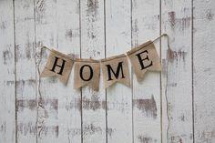 DIY HOME- Burlap Banner