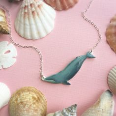 Blue Whale Necklace on Etsy  #bluewhale #whale #blue #etsy #shop #jewelry #crafts #shipping #gifts #ideas #art #products #store #photography #handmade #necklace #finds #fashion #pictures #logo #jewellery #seller #listing #giftsforher #marinebiology #animals #kohola