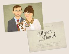 #wedding #weddinginvitation #weddingportrait #customportrait #coupleportrait #etsybestgifts #etsyfinds #weddingidea  Personalized Wedding invitation with custom couple by lilidiprima