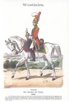Band V #16.- Westfalen. Trompeter der Garde du Corps. 1812.
