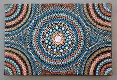 Mandala auf Leinwand 30 cm x 20 cm