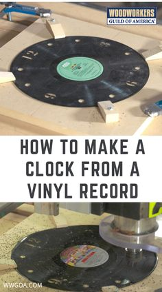 Have you ever wanted to make a clock in your shop but couldn't come up with a creative idea to set your clock apart? Here's an idea for you, provided that you have access to a CNC machine. If you want to make a clock on a CNC, how about starting with a vinyl LP record? If you make a clock from an old vinyl record, perhaps from your favorite band, you will have a priceless conversation piece to show off to your friends. Life Hacks Computer, Make A Clock, Old Vinyl Records, Scroll Saw Patterns, Woodworking Projects Diy, Phone Stand, Cnc Machine, New Job, Poker Table