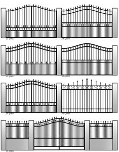 Presenting someone with too many choices can confound satisfaction and waste time. Getting steel gates in place should not be a major life decision. But if you have the time, perusing a menu of artistic options is fascinating.