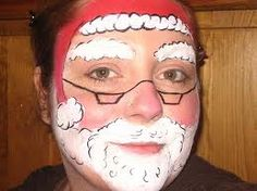 simple face painting for kids - santa