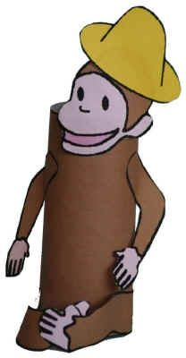 Curious George - toilet paper roll craft