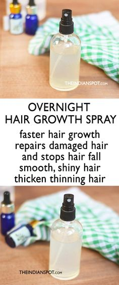 Who doesn't wish to have lustrous, thick and healthy hair? If you aren't naturally blessed with thick hair or if you are suffering from hair issues like hair fall, stunt hair growth, hair breakage etc. its time you try some natural and effective hair reme Overnight Hair Growth, Overnight Hair Mask, Overnight Hairstyles, Hair Issues, Essential Oils For Hair, Hair Remedies For Growth, Thinning Hair Remedies, Healthy Hair Remedies, Hair Loss Remedies