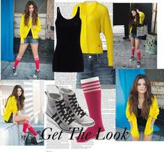 """Get The Look:Selena Gomez Adidas Neo"" by directionerselenatorforever ❤ liked on Polyvore"