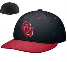 Nike Oklahoma Sooners Black-Crimson Authentic 643 Fitted Cap  $24.99 $14.99  Save:40% off    Get ready for NCAA action with the Authentic 643 fitted hat from Nike! It features the team logo on the crown, a Nike Swoosh on the back and the team name on the inside.  Quality embroidery  Six panels with eyelets  Structured  Fitted  Flat bill  Dry clean only