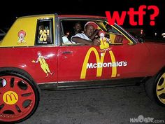 They see me rollin, I'm Lovin' It!  @Brooke Price I found your first car!!