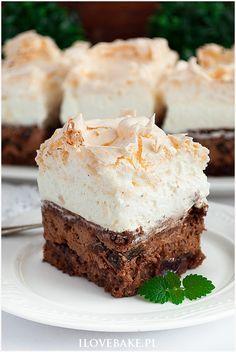 Polish Desserts, Polish Recipes, No Bake Desserts, Food Cakes, Brownie Recipes, Cake Recipes, Sweet Cakes, Homemade Cakes, Easy Snacks