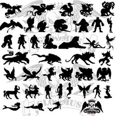mermaid silhouette   Download free vector Mythological Monsters from:
