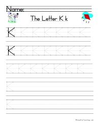 Letter K Handwriting Practice - Have Fun Teaching