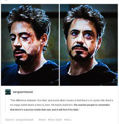 Oh, trust me, it does hurt. Every time my previous Iron Baby gets hurt, it hurts. Tony deserves to just be happy, goddamnit!