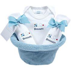 Bucket of baby stuff