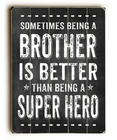 Look at this 'Being a Brother' Wall Sign on #zulily today!