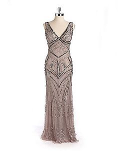aaaamazring 1920s Downton Abbey style Embellished  Evening Gown dresses $259.00  #DowntonAbbey http://www.vintagedancer.com/1920s/1920-downton-abbey-inspired-clothing/