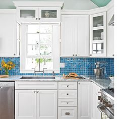 Colorful Key West Cottage Kitchen