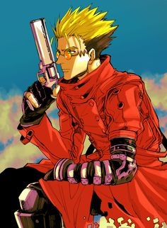 Vash the Stampede - Trigun - Image - Zerochan Anime Image Board Manga Boy, Anime Manga, Manhwa, Venus Tattoo, Samurai Artwork, Alien Tattoo, Tokyo Mew Mew, Vash, Manga Covers