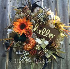 Hello Fall by Holiday Baubles