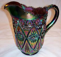 Vintage Pitcher  is this carnival glass?    Love this!