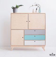 Design studio with customized plywood furniture. Plywood Furniture, Recycled Furniture, Cabinet Furniture, Handmade Furniture, Home Furniture, Furniture Design, Plywood Floors, Unique Furniture, Bedroom Furniture