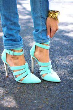 Blue Pastel Pumps! love it!!
