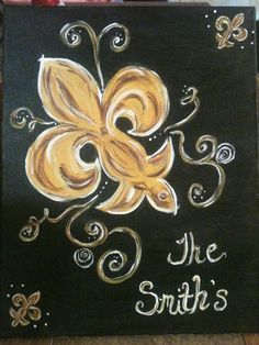 Fleur De Lis Painting Well HOTT DAYUM! This is what I was looking for!!!!!! THE SMITHS ❤️