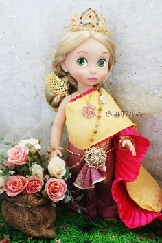 As I am falling in love with these Disney Animator's Doll, I really want to make a beautiful dress for them. Here are some of my crafts. The dress has sold in Craffiti Mania brand (my own brand). Please visit www.facebook.com/CraffitiMania
