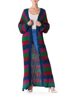 1970s Maxi Lurex Sweater from Harriet Selling for Henri Bendel