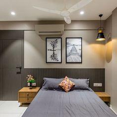 Image may contain: bedroom and indoor Room Interior, Modern Interior, Interior And Exterior, Interior Design, Tv Wall Design, Bed Design, Bedroom Wall, Bedroom Decor, Bedroom Furniture Design