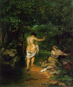 The Bathers by Gustave Courbet (1853)